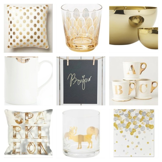 A round up of some of my favourite gold items I've pinned in the last few weeks.